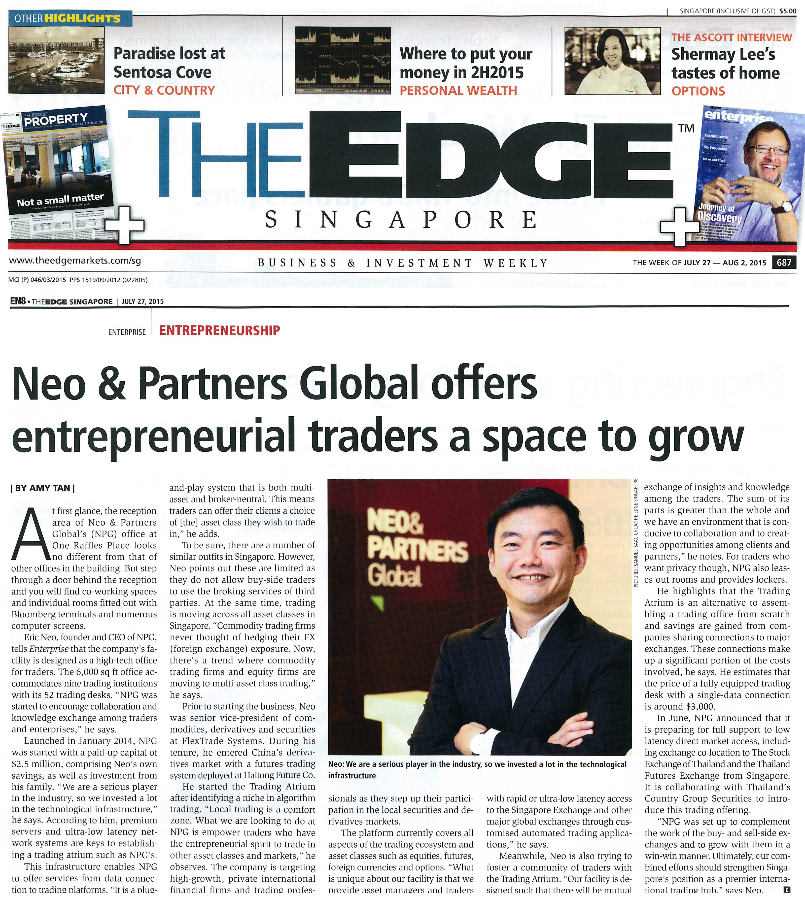Neo & Partners Global Offers Entrepreneurial Traders A